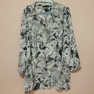Womens Oversized Casual Business Dress Shirt
